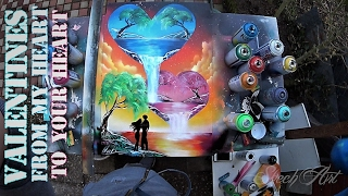 SPRAY PAINT ART - Valentine's - From my heart to your's with LOVE