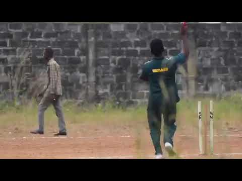 Amazing Yorker by VAISAKH KP ( TALLY GLOBE Cricket tournament Liberia 🇱🇷  2018)