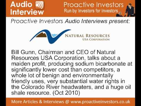 Bill Gunn, Chairman and CEO of Natural Resources USA Corporation, talks to Proactive Investors