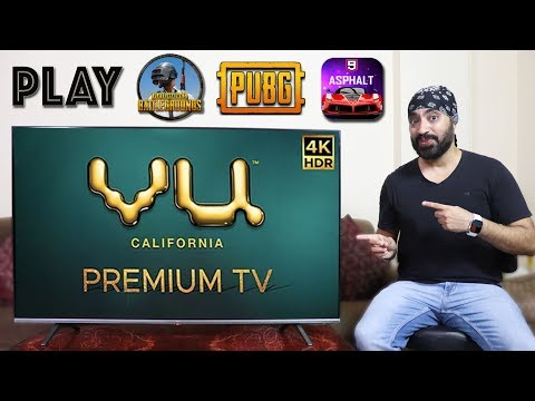 Play PUBG / Asphalt 9 And More GAMES On VU 4K Premium Android TV