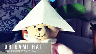HOW TO MAKE AN ORIGAMI HAT | Let's Reuse Paper