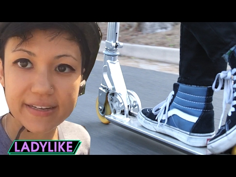Thumbnail: Women Ride Scooters Everywhere For A Day • Ladylike