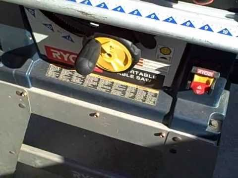 hqdefault table saw repair youtube Ryobi BT3000 Table Saw at mifinder.co