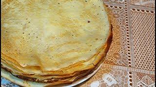 Домашние блины на молоке   Простой и вкусный рецепт тонких блинчиков