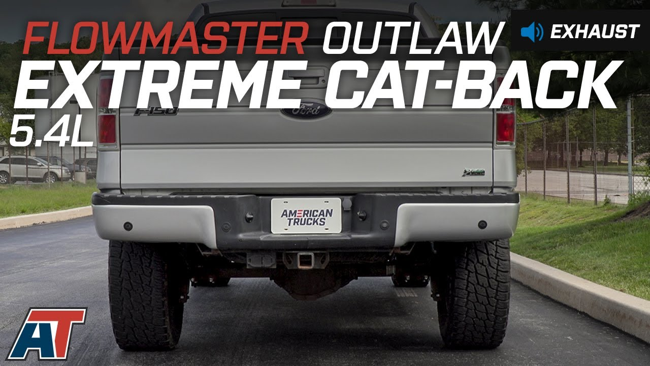 2009 2010 f150 flowmaster outlaw extreme cat back exhaust 5 4l sound clip install