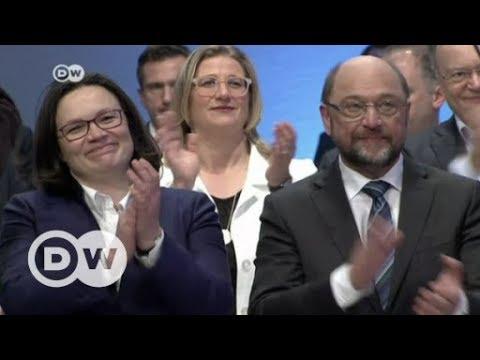 Germany's SPD backs entering coalition talks with Merkel   DW English