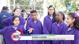 Colina al Día intervención musical en banco estado de Colina