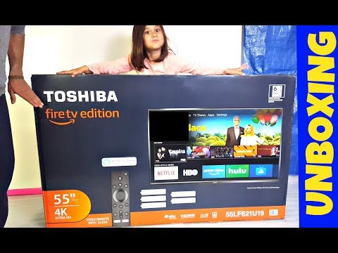 UNBOXING TOSHIBA FIRE TV 55 INCH 4K ULTRA HD TELEVISION  - TECH REVIEW