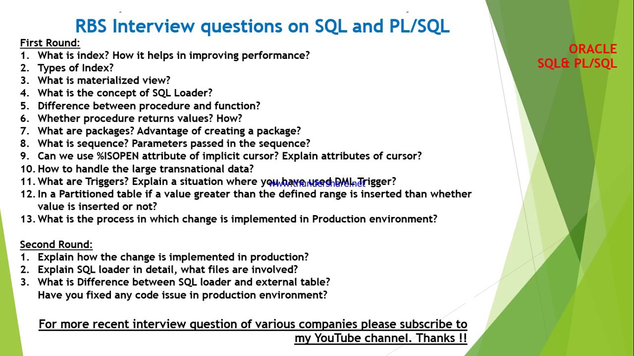 rbs interview questions and answers on sql and plsql rbs interview questions and answers on sql and plsql