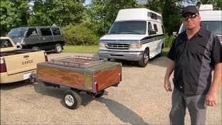 Motorcycle Pop Up Camper Trailer. the 'Covid Camper'