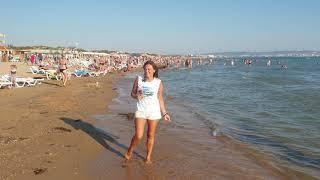 Погда обстановка на море  Витязево, Анапа пляж Селена, Парус #витязево