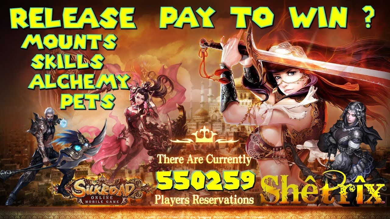 SILKROAD ONLINE MOBILE - iOS & ANDROID MMORPG RELEASE GAMEPLAY ALCHEMY PETS  MOUNTS - PAY TO WIN ?