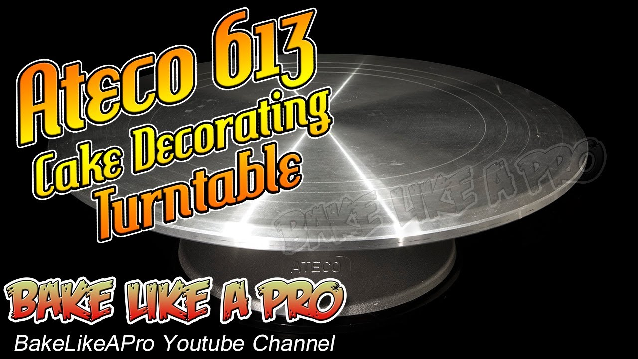 cake decorating turntable ateco 613 cake decorating turntable unboxing and review 2217