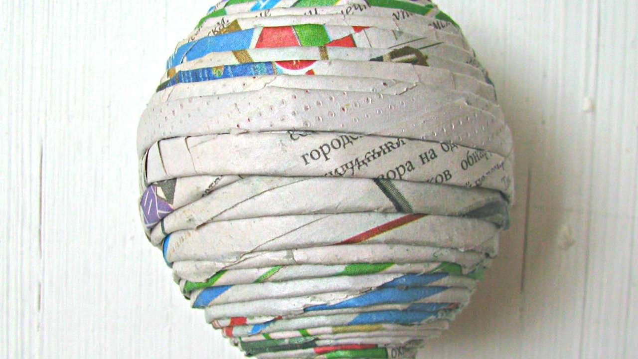 How To Make A Christmas Ornament From Newspaper  DIY Crafts