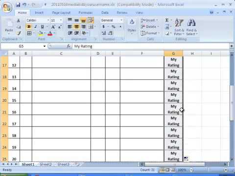 How to Create and Format a Blank Form Using Microsoft Excel