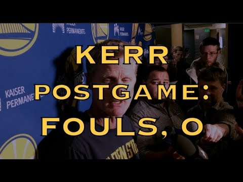 Entire STEVE KERR postgame: fouling too much, not taking good 3s, turnovers, emotion vs execution