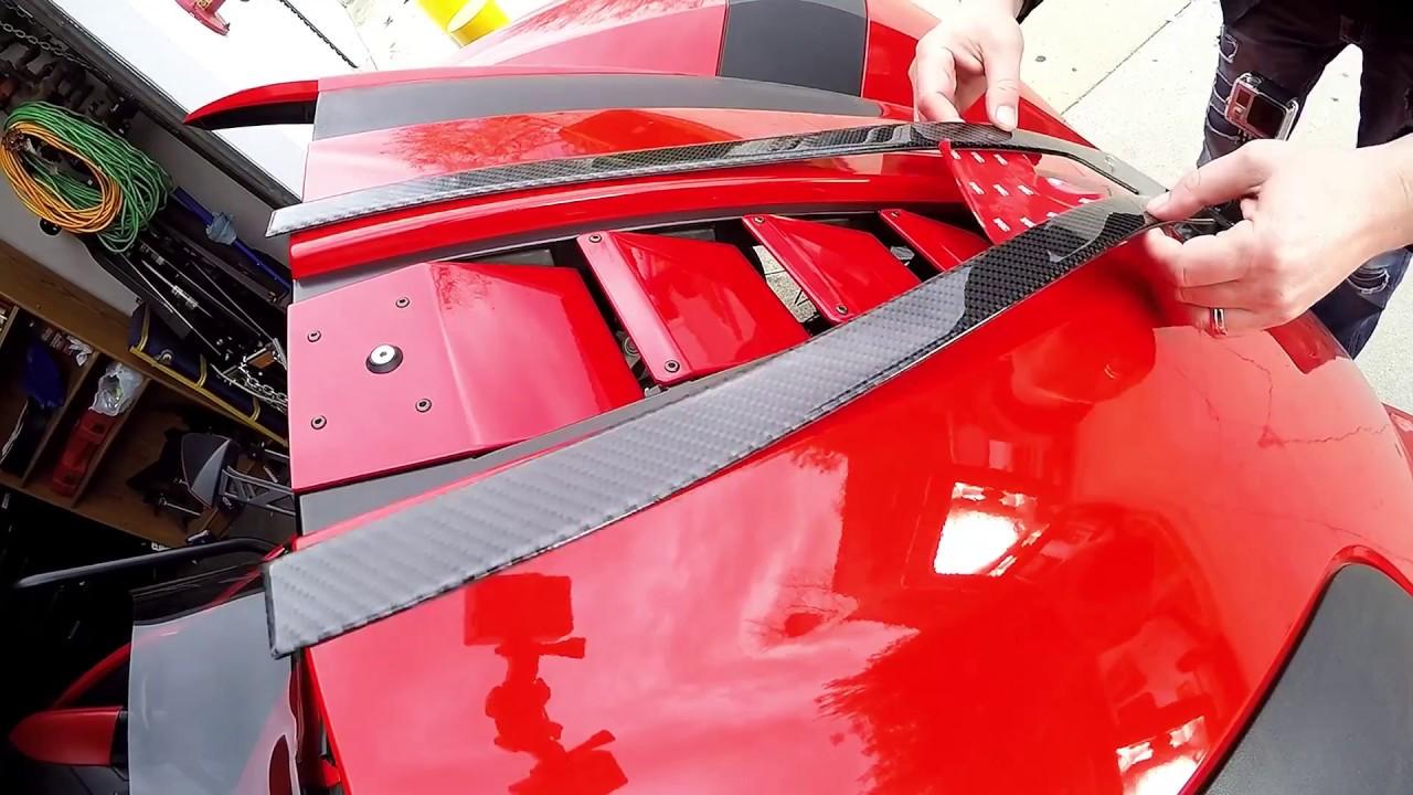 Carbon Fiber Center Hood Accent Trim Kit for the Polaris Slingshot