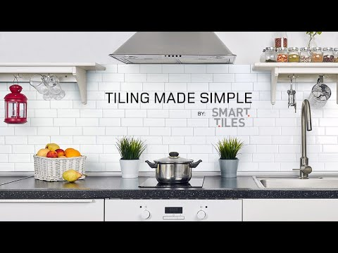 Peel and Stick Smart Tiles Backsplash Installation Video – Interlocking Tiles | Murano Metallik