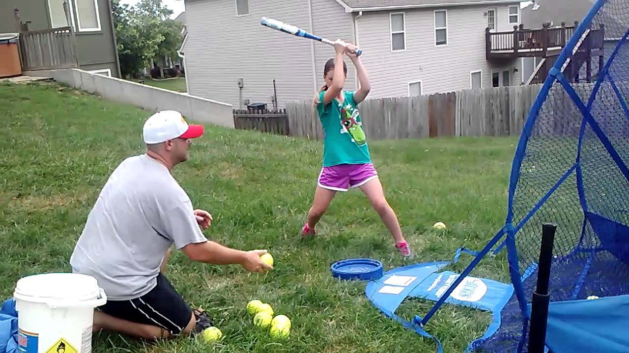 softball hitting drill quick soft toss bat speed and muscle