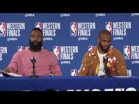 James Harden & Chris Paul Postgame Press Conference | Warriors vs Rockets Game 3 | May 20, 2018