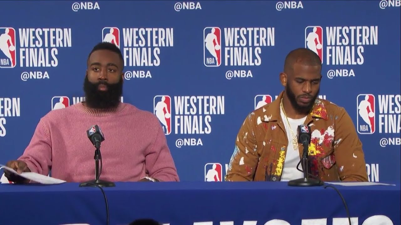 James Harden & Chris Paul Postgame Press Conference | Warriors vs Rockets  Game 3