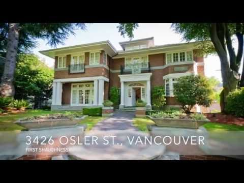 First Shaughnessy - 3426 Osler St., Vancouver. Peter and Vivian