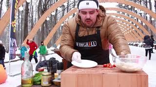 Fingrill Рецепты Салат Цезарь на дровяном гриле барбекю в Парке Сокольники