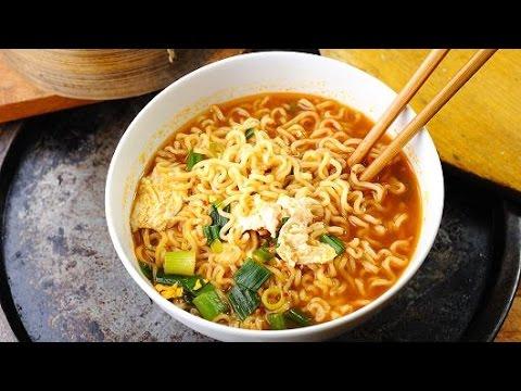 Cara Membuat Mie Ramen Jepang Pedas Dari Mie Instan How To Make Ramen Noodles From Mie Instan Youtube