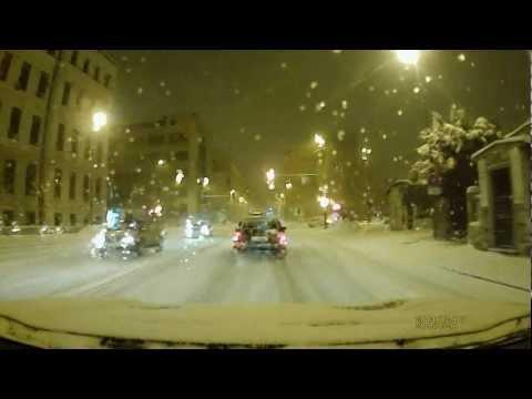 Driving through Ljubljana