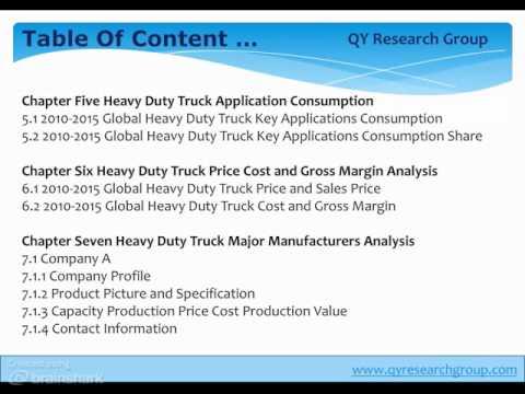 Global Heavy Duty Truck Industry 2015 Market Research Report