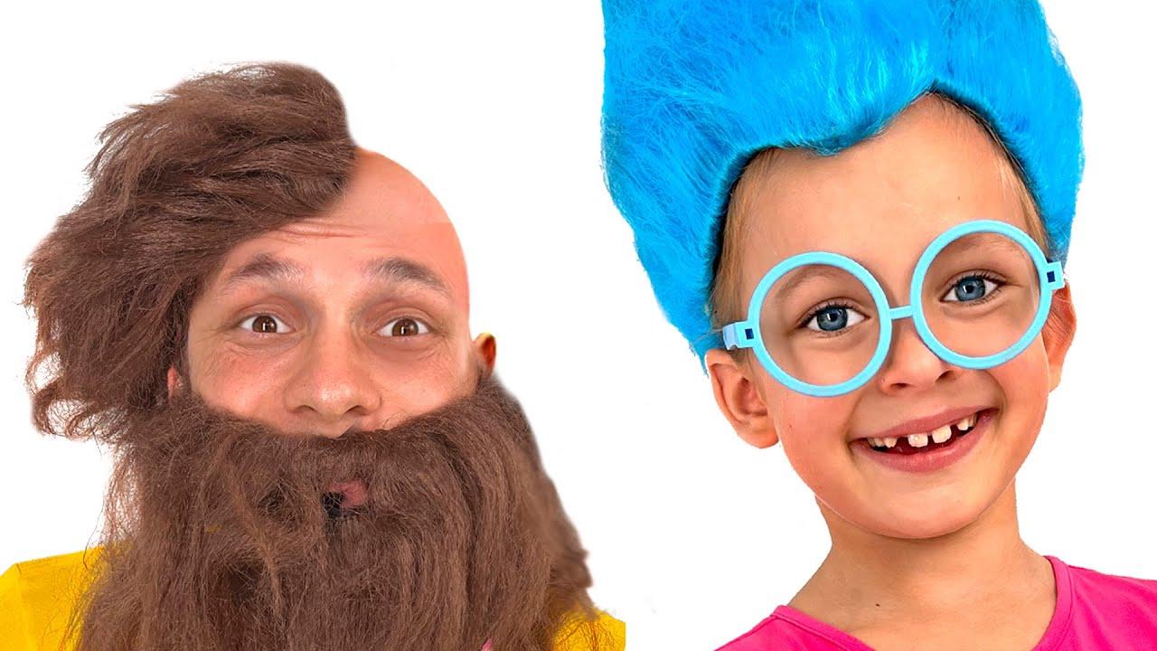 Детская песня про парикмахера и разные смешные стрижки от Майи и Маши