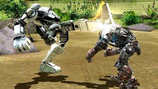 REAL STEEL WRB Cosmobot VS Atom & Bio War & Ambush & Camelot