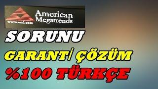 AMERİCAN MEGATRENDS HATASI/KESİN ÇÖZÜM thumbnail