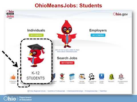 Ohio Means Jobs K-12: Navigation