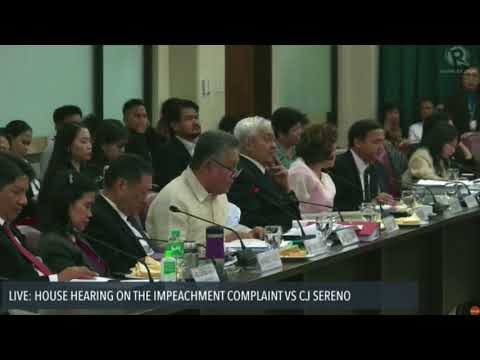 Justice Tijam testifies at House hearing on Sereno impeachment complaint