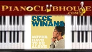 "🎹 How to play ""NEVER HAVE TO BE ALONE"" by Cece Winans (easy gospel piano lesson tutorial)"
