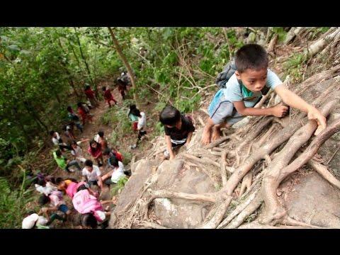 Zamboanga del Norte students trek dangerous mountain trail to school   KMJS
