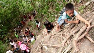 Zamboanga del Norte students trek dangerous mountain trail to school | KMJS