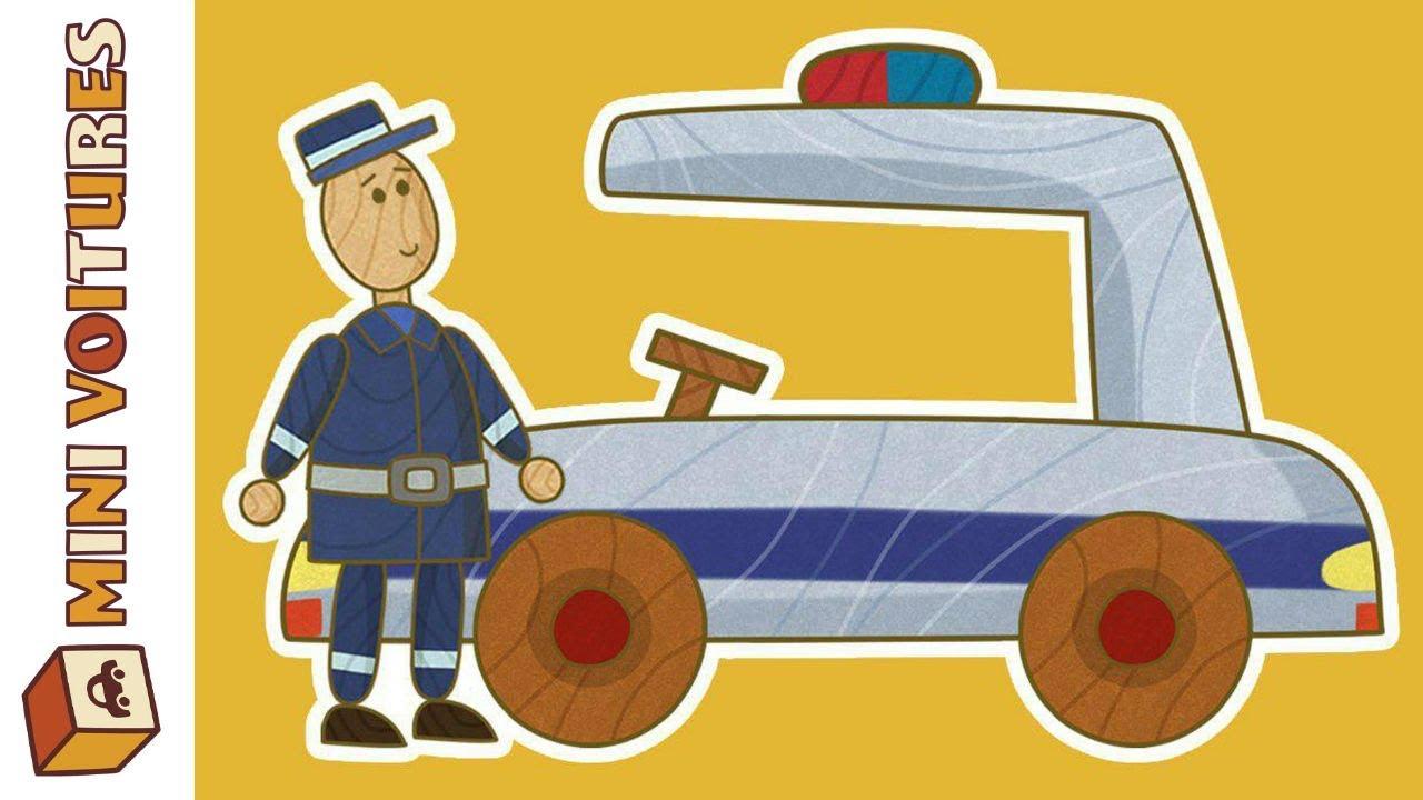 Animé Dessin Mini Police VoituresLa Voiture Éducatif De QsBhdtrCx