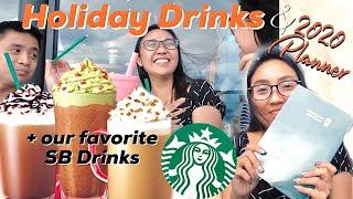 STARBUCKS HOLIDAY DRINKS 2019 + UNBOXING STARBUCKS 2020 PLANNER!   Via Silverio