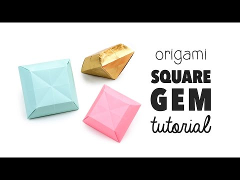 3D Origami Gem / Crystal Tutorial ♥︎ DIY ♥︎ Cute Decoration 💎 Paper Kawaii