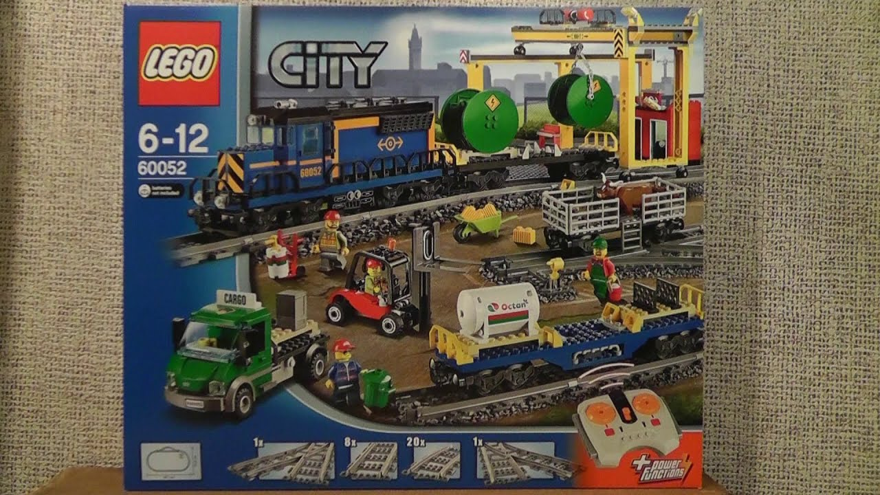 Lego City 60052 Pociąg Towarowy Youtube
