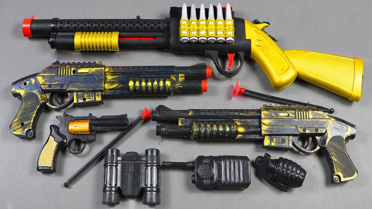 Ancient Realistic 2 Shoot Guns With M1014 Shot Gun And Equipment