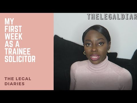 My first week as a trainee solicitor | The legal diaries
