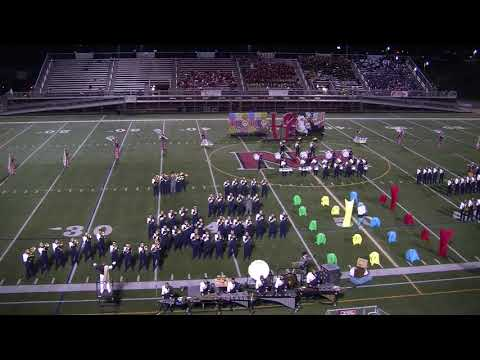 Franklin Regional Marching Band Performing in the North Hill Band Festival 2018