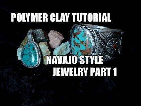 034-Polymer clay tutorial - Navajo style jewelry part 1