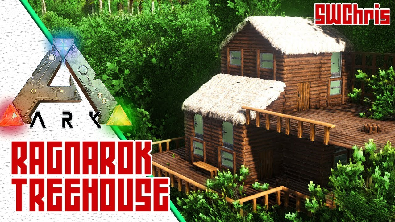 Awesome Small Ark Treehouse Exploring Ark Ragnarok