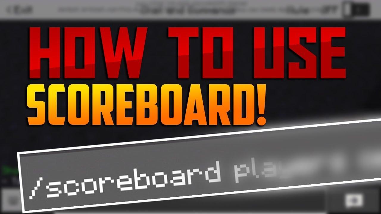 how to make a scoreboard in minecraft pe