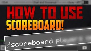 HOW TO USE /ScoreBoard Command in Minecraft PE 1.7.0.2+