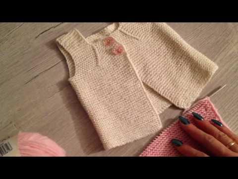 Как связать для новорожденного жилетку спицами для начинающих